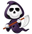 Cute cartoon grim reaper vector image