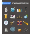 Handmade and sewing icons set Flat style design vector image