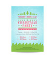 merry christmas invitation poster with snowfall vector image