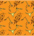 seamless pattern native american symbols vector image