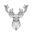 modern geometry reindeer design tattoo imag vector image