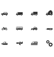 12 Transport Icons vector image vector image