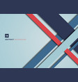 abstract blue and red color geometric shape vector image