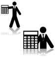 Accountant vector image vector image