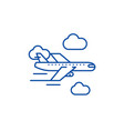 airplane line icon concept airplane flat vector image vector image