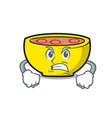angry soup union mascot cartoon vector image vector image
