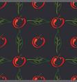 apple fruit leaf color seamless pattern vector image