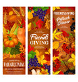 autumn friendsgiving holiday potluck dinner vector image vector image