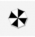 beach striped umbrella top view icon isolated on vector image vector image