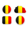 Belgium flag labels vector image vector image