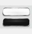 black and white glossy buttons vector image
