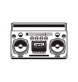 boombox cassette players design element for vector image vector image