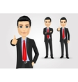 business man giving thumbs up vector image vector image