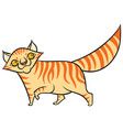 cartoon tabby cat vector image