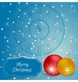 Christmas - card with chimes and red christmas vector image vector image
