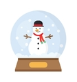 Christmas Snow Globe With funny Snowman vector image vector image