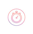 chronometer stopwatch linear icon isolated vector image