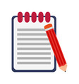 clipboard and pencil symbol vector image vector image