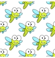 Colorful dragon fly seamless pattern vector image vector image