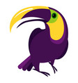 colorful toucan icon cartoon style vector image vector image