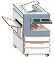 copying machine on white background vector image