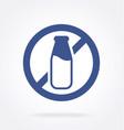 dairy free milk bottle logo symbol icon vector image
