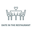 date in restaurant line icon linear vector image