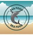 delicious sea food fish restaurant vector image vector image
