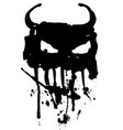 devil logo vector image