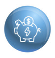 economy save piggy bank icon outline style vector image vector image