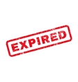 Expired Text Rubber Stamp vector image vector image
