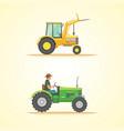 farm tractor icon heavy vector image vector image