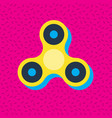 fidget spinner memphis style icon vector image vector image
