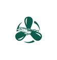 fishing-logo vector image vector image