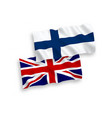 flags great britain and finland on a white vector image