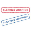 flexible working textile stamps vector image vector image