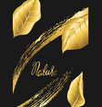 floral background with gold autumn foliage vector image