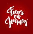 focus on journey vector image vector image