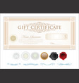 gift certificate retro vintage template 7 vector image