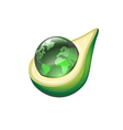 globe in avocado vector image vector image