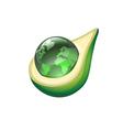 globe in avocado vector image vector image