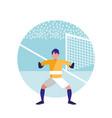 goalkeeper football avatar character vector image