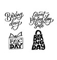 hand drawn lettering for boxing day modern brush vector image
