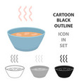 hot soup icon cartoon single sick icon from the vector image