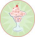 Ice Cream Sundae vector image vector image