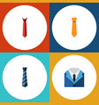 icon flat tie set of cravat style clothing and vector image vector image
