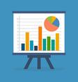 Infographics statistics data concept Flat design vector image