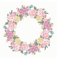Invitation card with floral round wreath vector image vector image