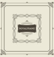 invitation frame vintage ornament greeting card vector image vector image