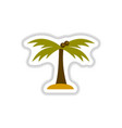labels with shadow flat icon palm tree silhouette vector image vector image